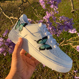 Turquoise HD Clear Butterfly Air Force 1