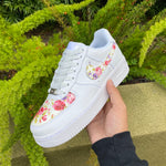 White Flower Leather Air Force 1