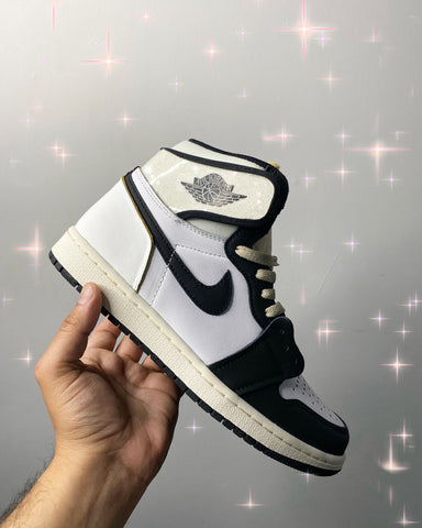 White Glitter Patent Leather Limited Air Jordan 1