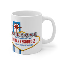 Load image into Gallery viewer, HR Rescue What Happens In HR White Coffee Mug - HR-Rescue