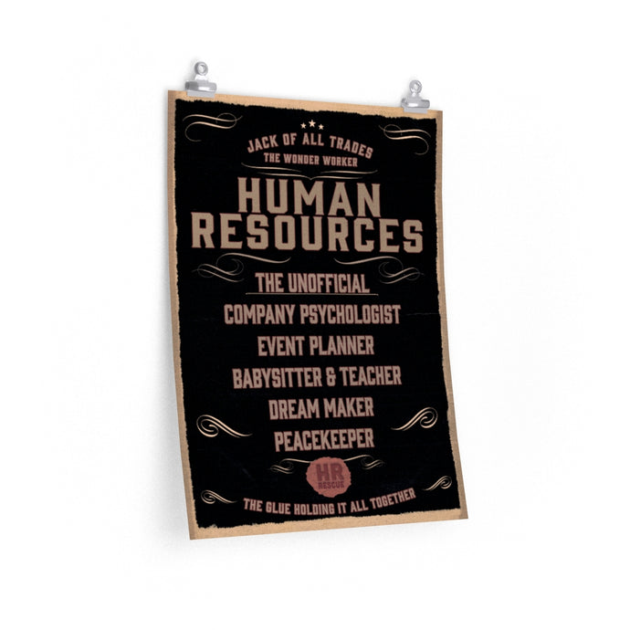 HR Rescue Human Resources Professional Unofficial Description Poster - HR-Rescue