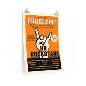 HR Rescue HR Rock Star Poster - HR-Rescue