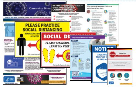 Covid-19 Coronavirus Poster Kit (English) - HR-Rescue