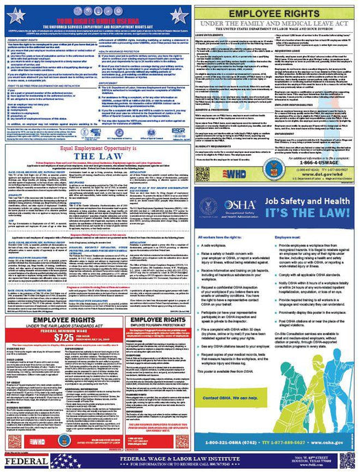 Federal Labor Law Posters (English) - HR-Rescue