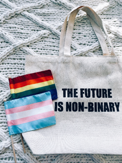The Future is Non-Binary Tote Bag