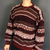 Vintage Crazy Pattern Knitted Jumper / Sweater - Large - Vintique Clothing