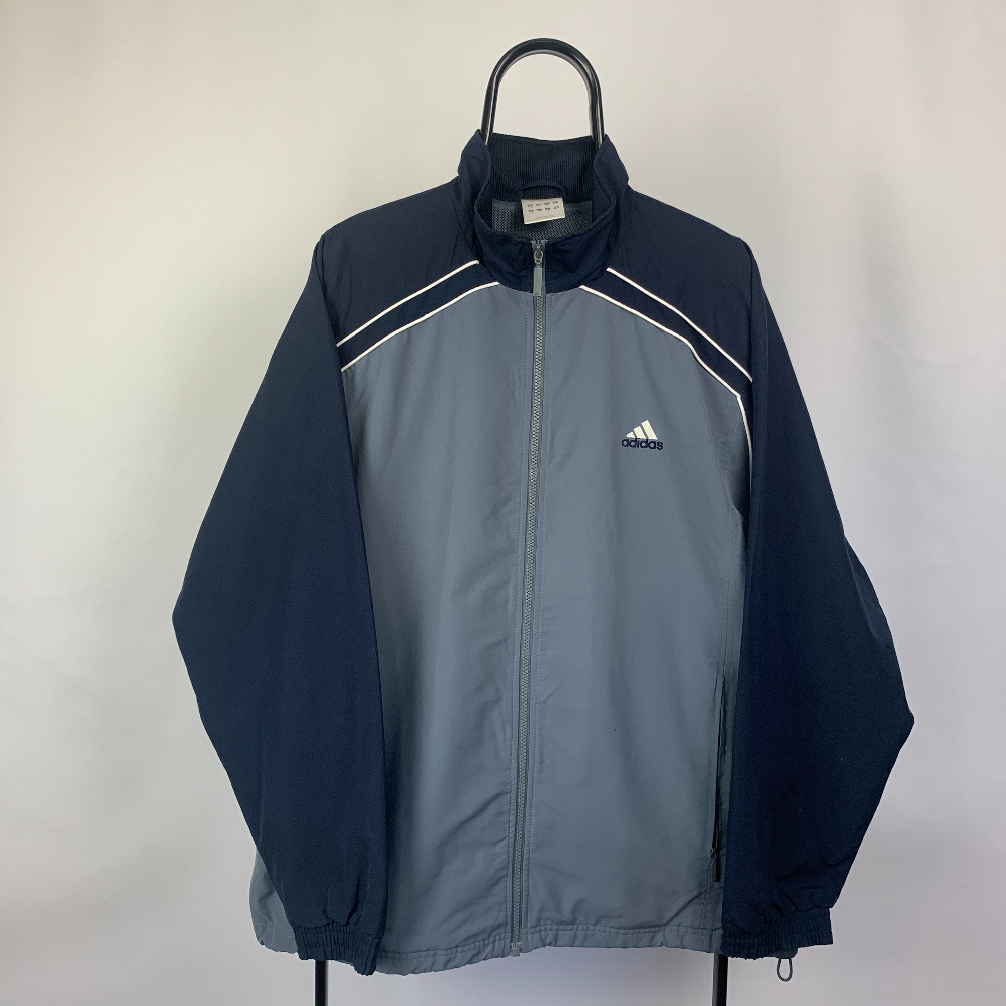 Vintage Adidas Track Jacket in Blue - Men's Large/Women's XL