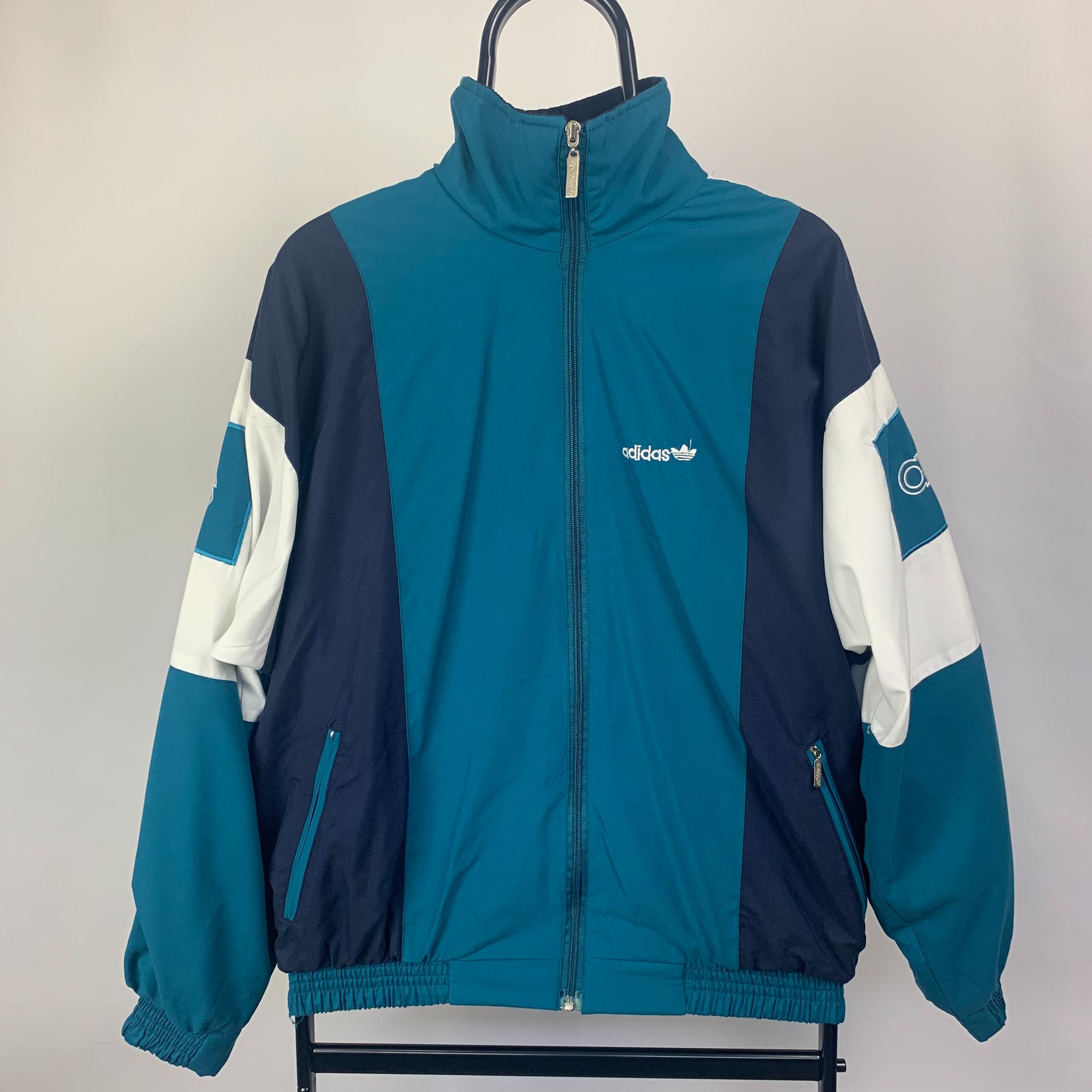 Vintage Adidas Track Jacket in Turquoise - Men's Small/Women's Medium