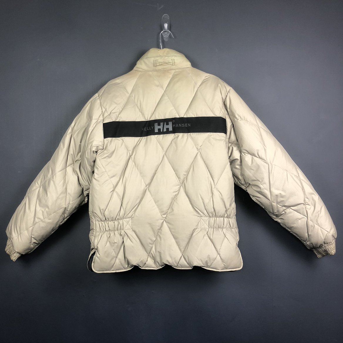 Vintage Helly Hansen Reversible Puffer Jacket in Beige & Black - Women's Medium - Vintique Clothing