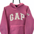 VINTAGE 90S GAP FLEECE HOODIE IN PINK - MEN'S SMALL/WOMEN'S MEDIUM