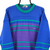 Vintage 90s Fila Knitted Jumper in Purple, Blue & Green - Men's Medium/Women's Large