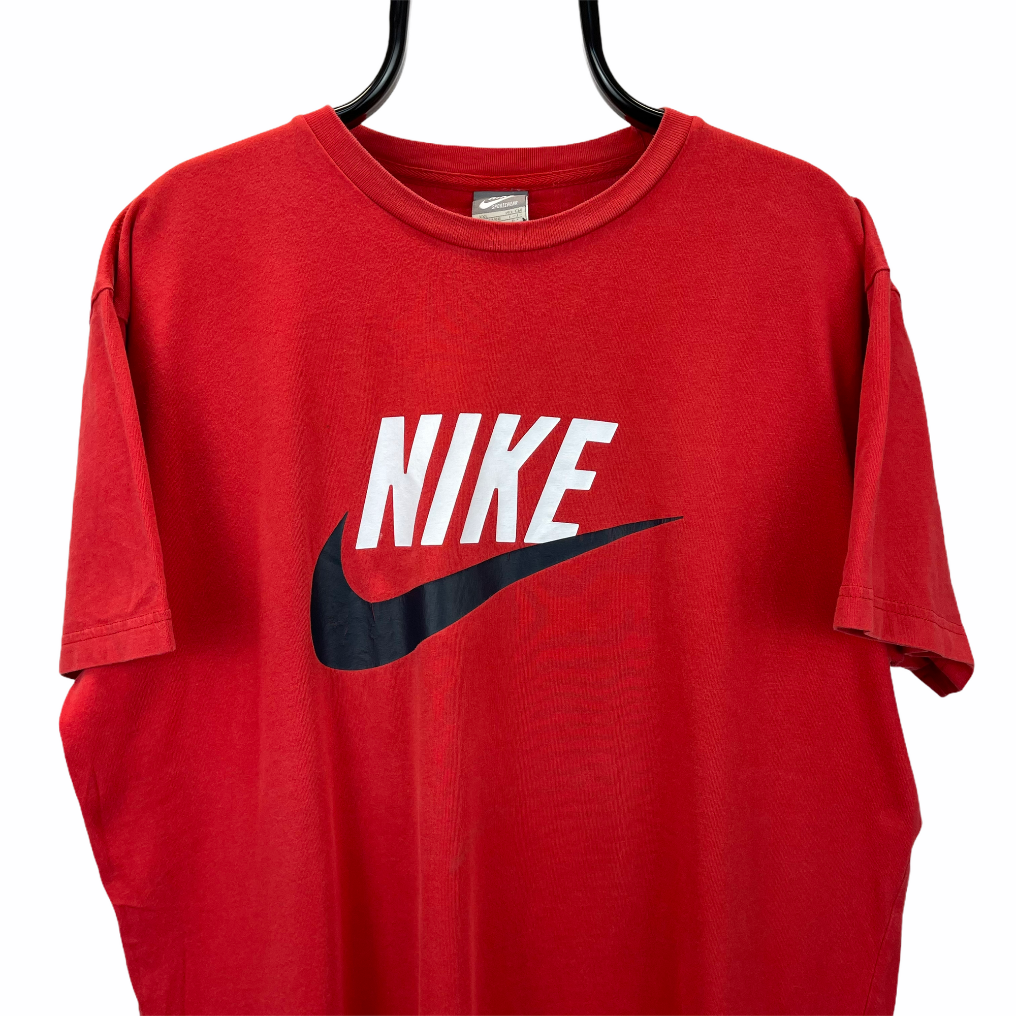 Vintage Nike Spellout Tee in Red - Men's XL/Women's XXL