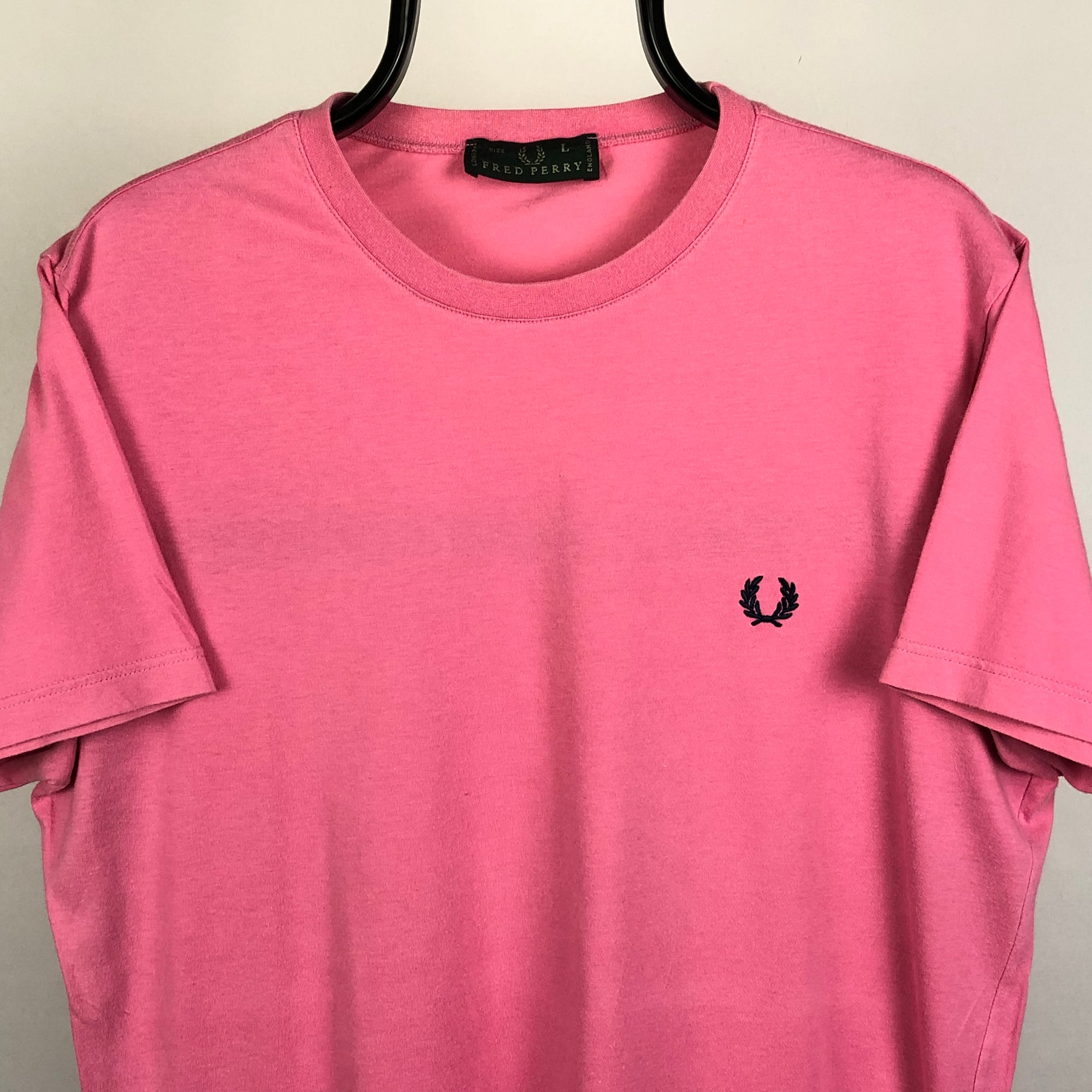 Vintage Fred Perry  Tee in Pink - Men's Large/Women's XL