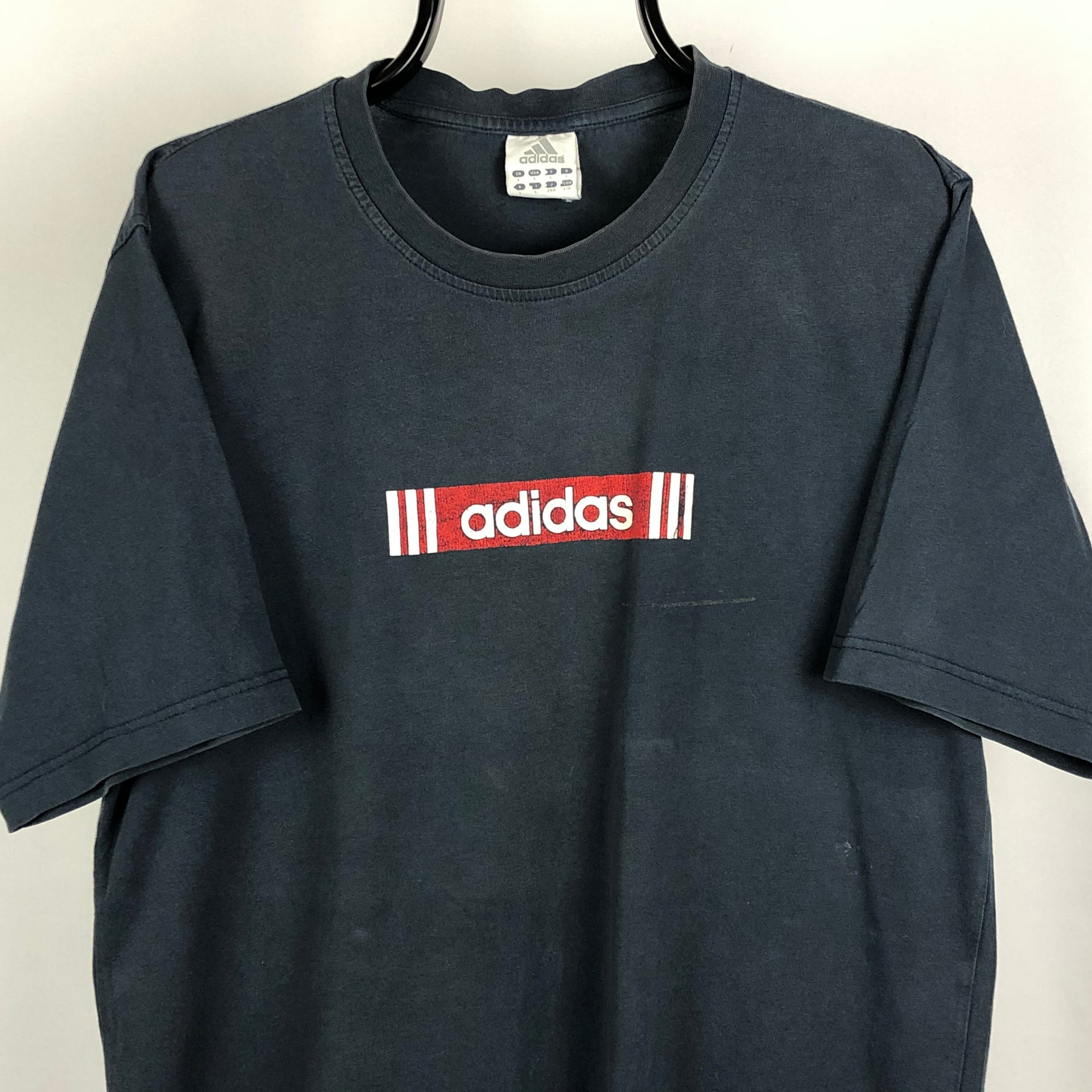 Vintage Adidas Spellout Tee - Men's Large/Women's XL
