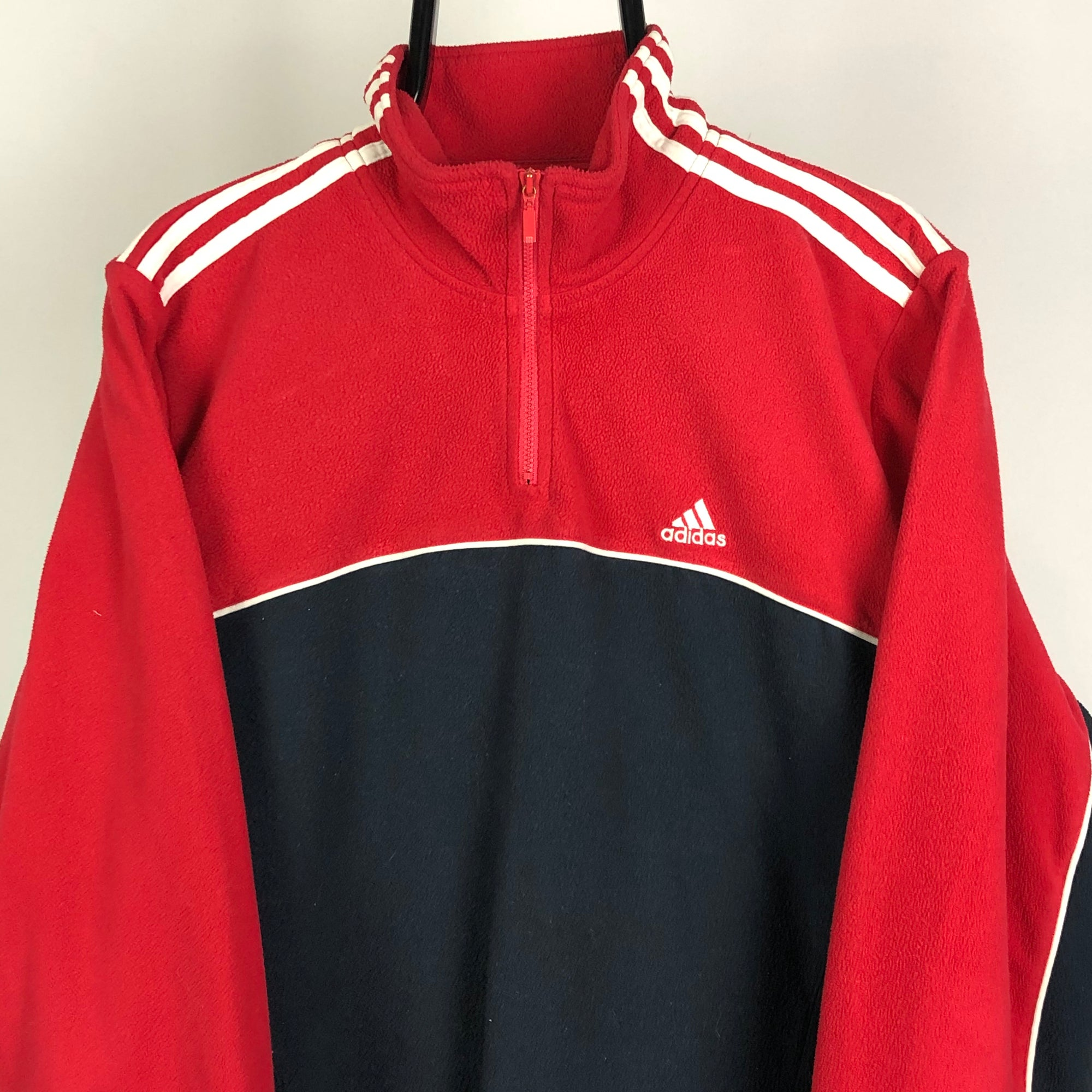 Vintage Adidas Fleece in Navy/Red - Men's Medium/Women's Large