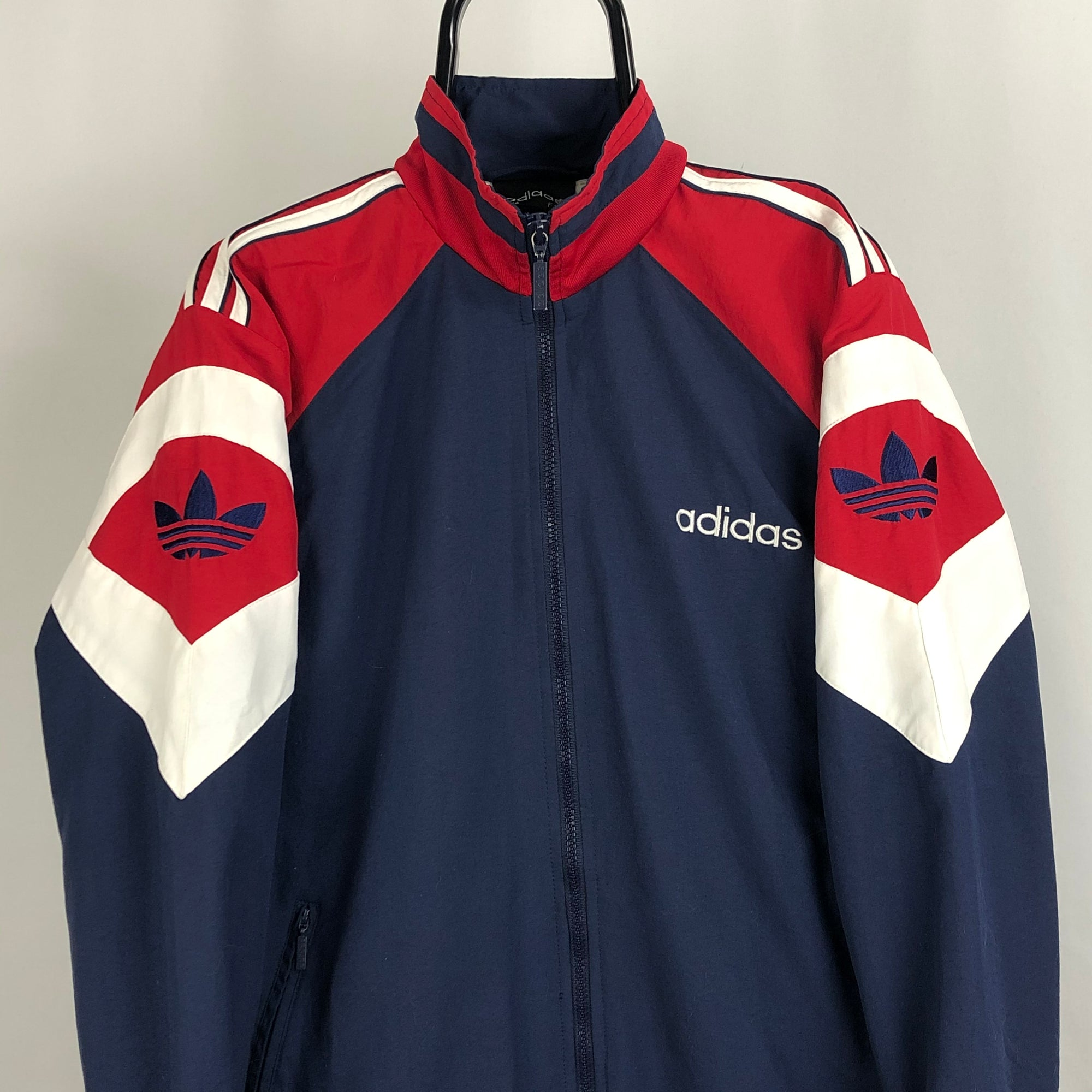 Vintage Adidas Embroidered Spellout Track Jacket - Men's Medium/Women's Large