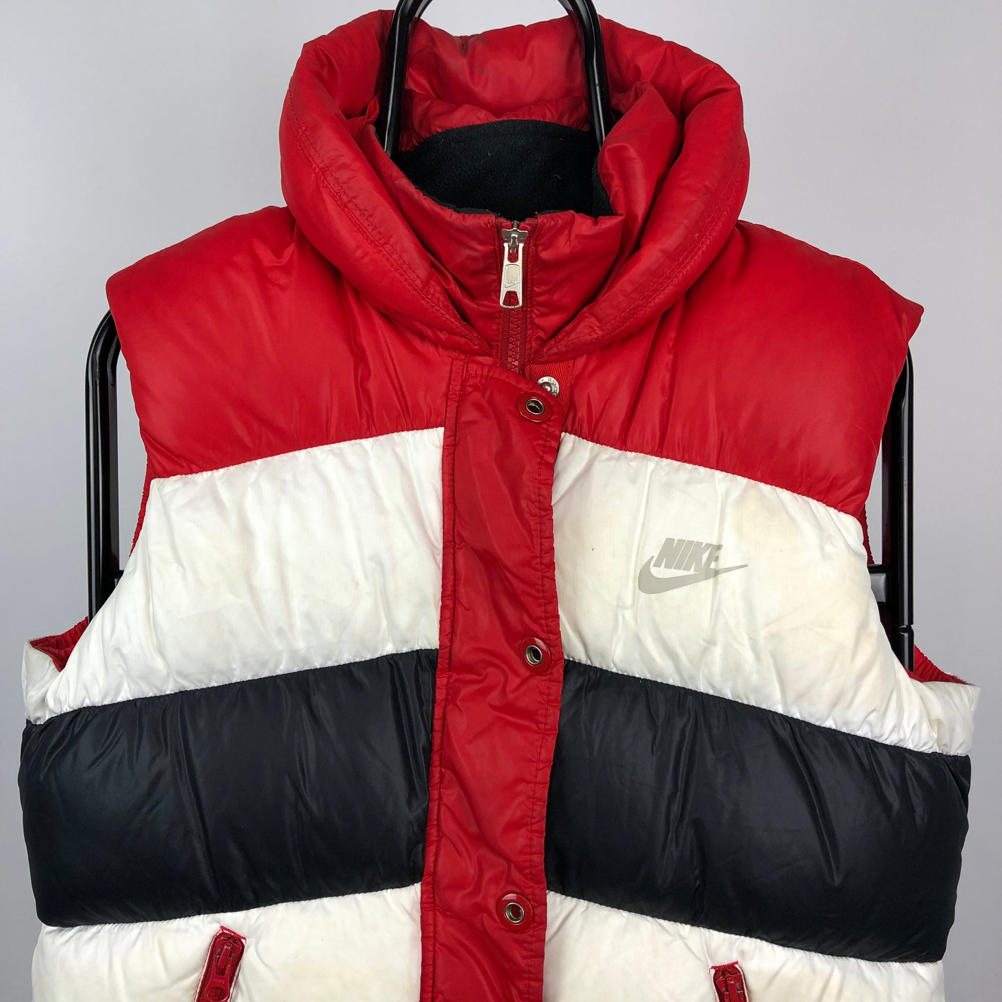 Vintage Nike Gilet in Red/Navy/White - Men's Small/Women's Medium