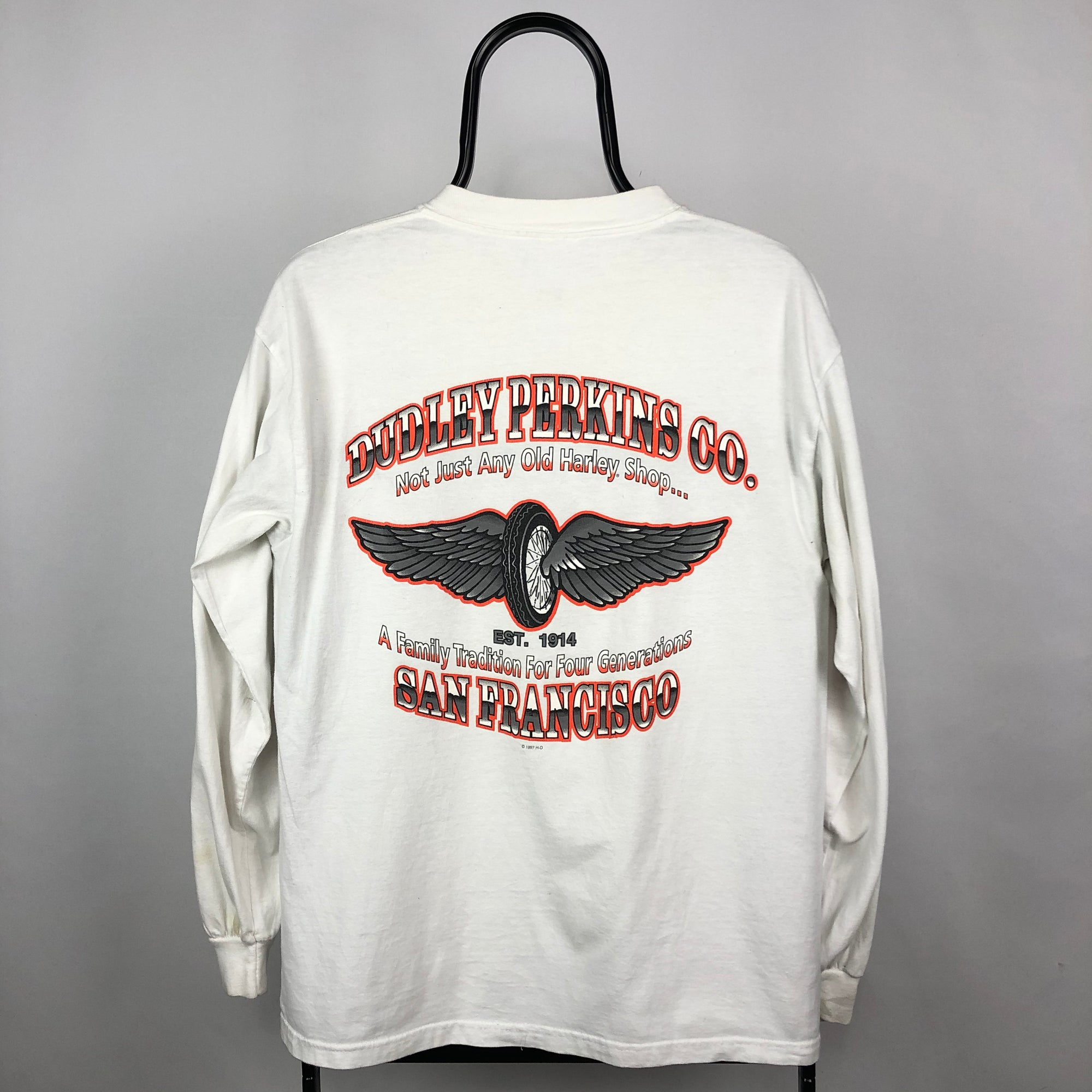 Vintage Harley Davidson Long Sleeve Tee - Men's Medium/Women's Large