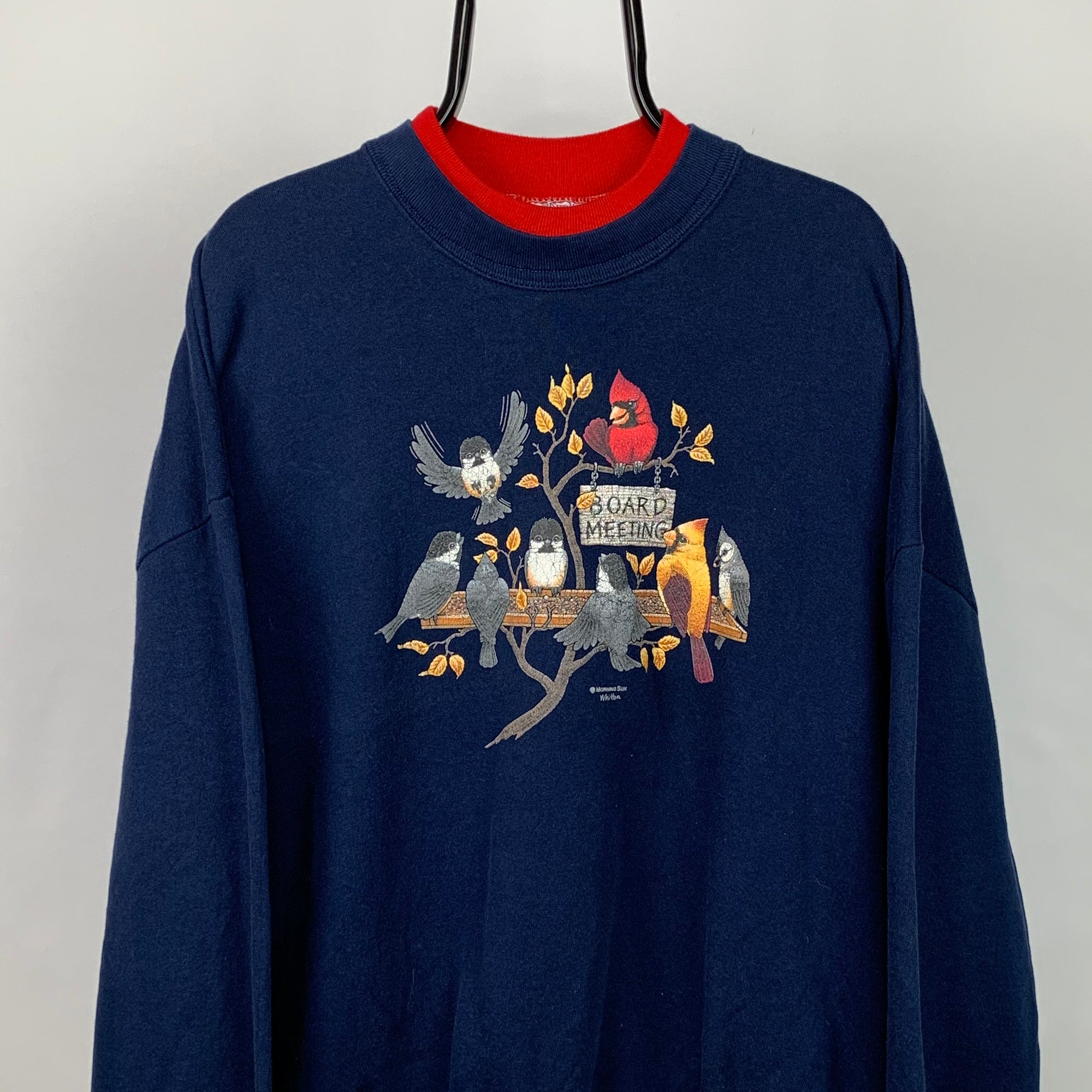 Vintage 90s Bird Print Sweatshirt - Men's Large/Women's XL