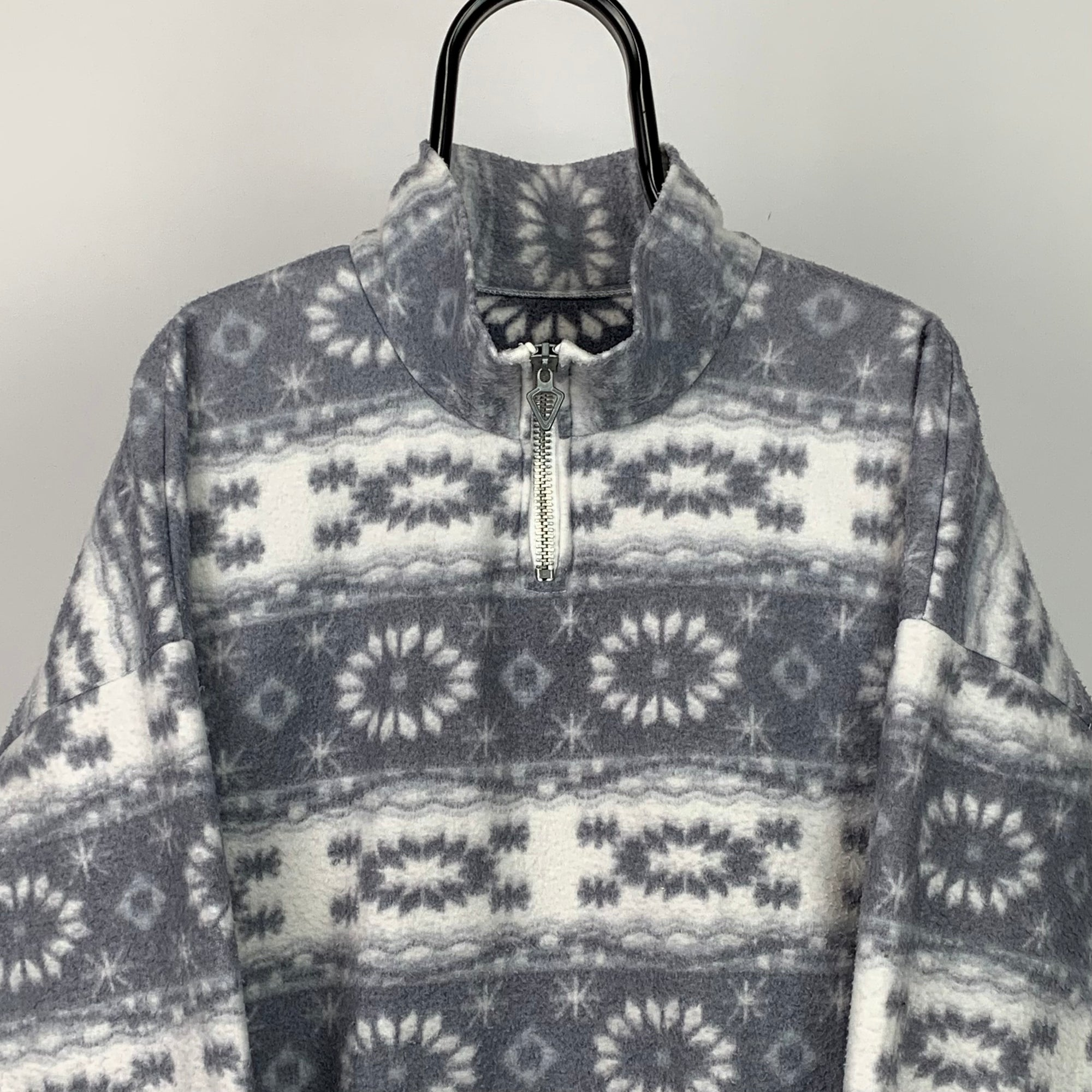 Vintage Snowflake Print Fleece - Men's XL/Women's XXL