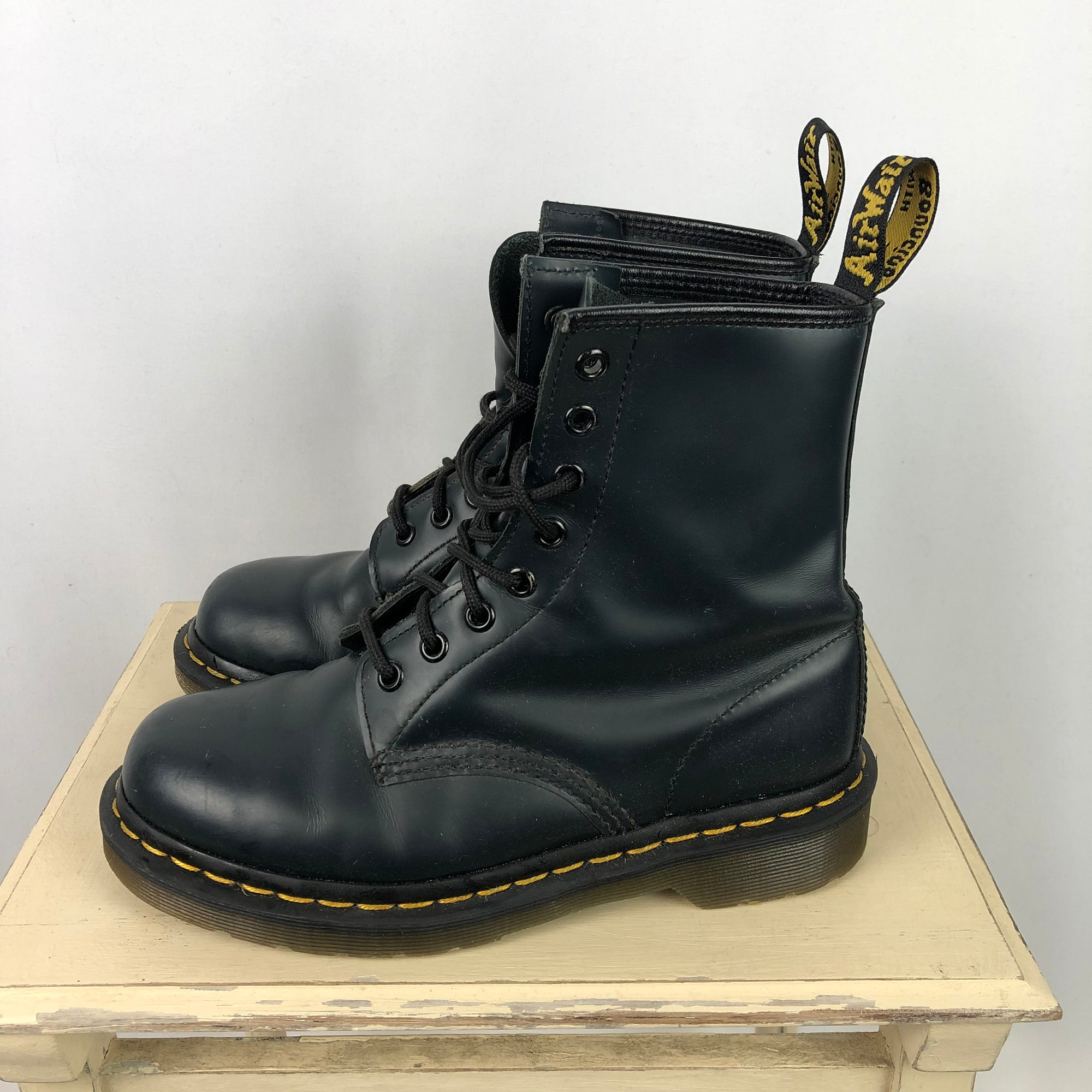 Dr Martens 1466 Leather Boots in Navy - UK4/EU37
