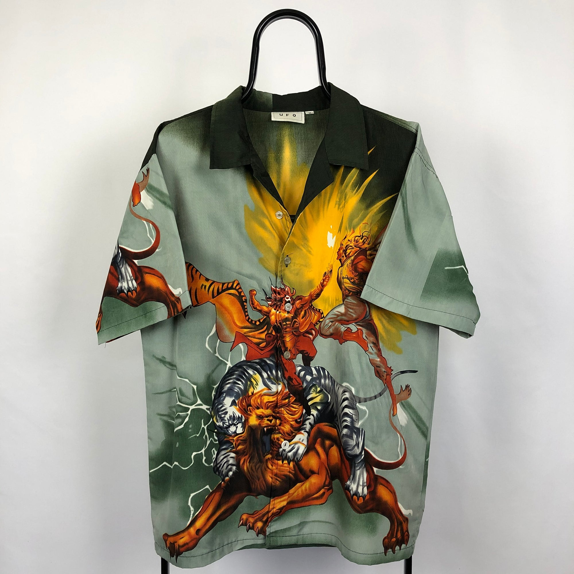 Tiger X Lion Anime Shirt - Men's Large/Women's XL