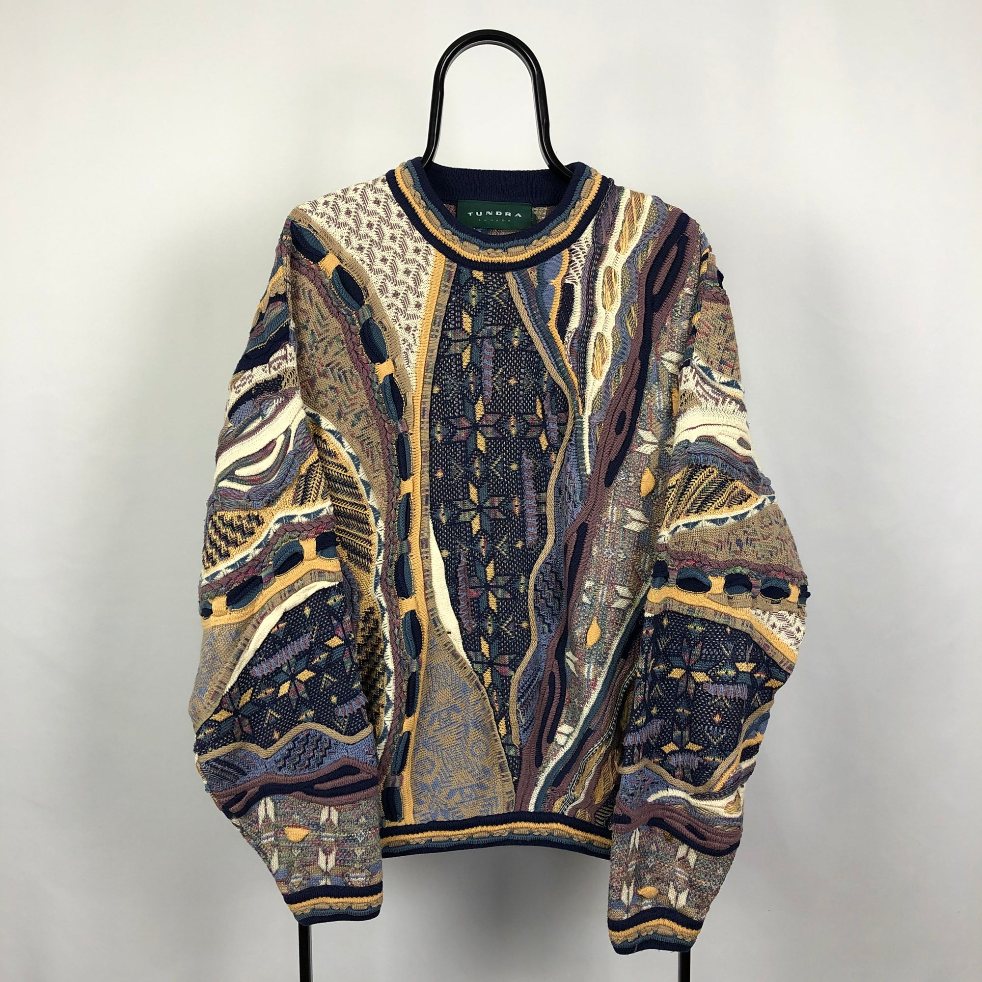 Vintage Tundra Coogi Style Sweater - Men's Large/Women's XL