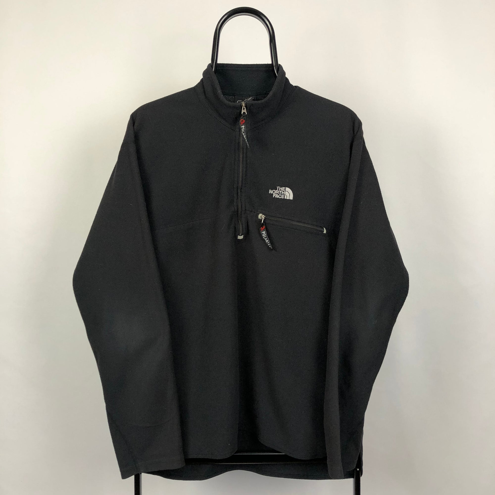 North Face Polartec Fleece in Black - Men's Large/Women's XL