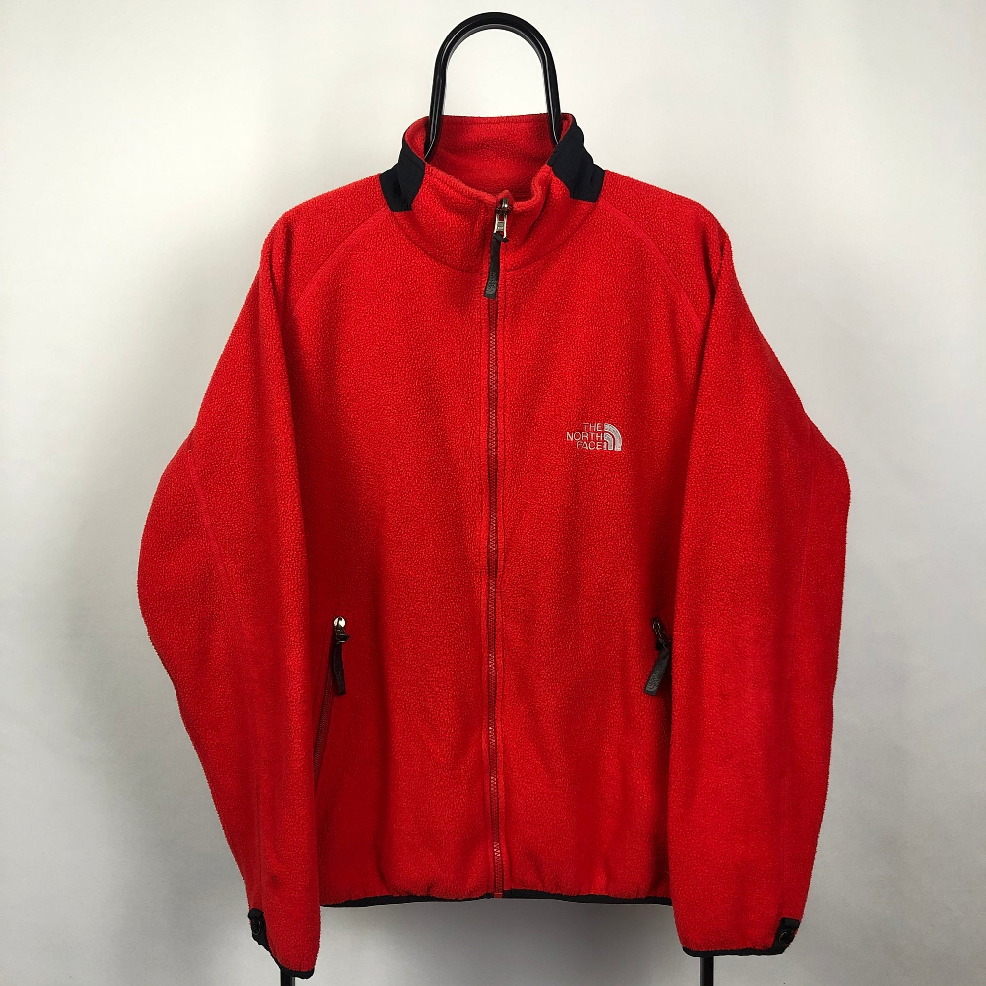 North Face Fleece in Red - Men's Large/Women's XL