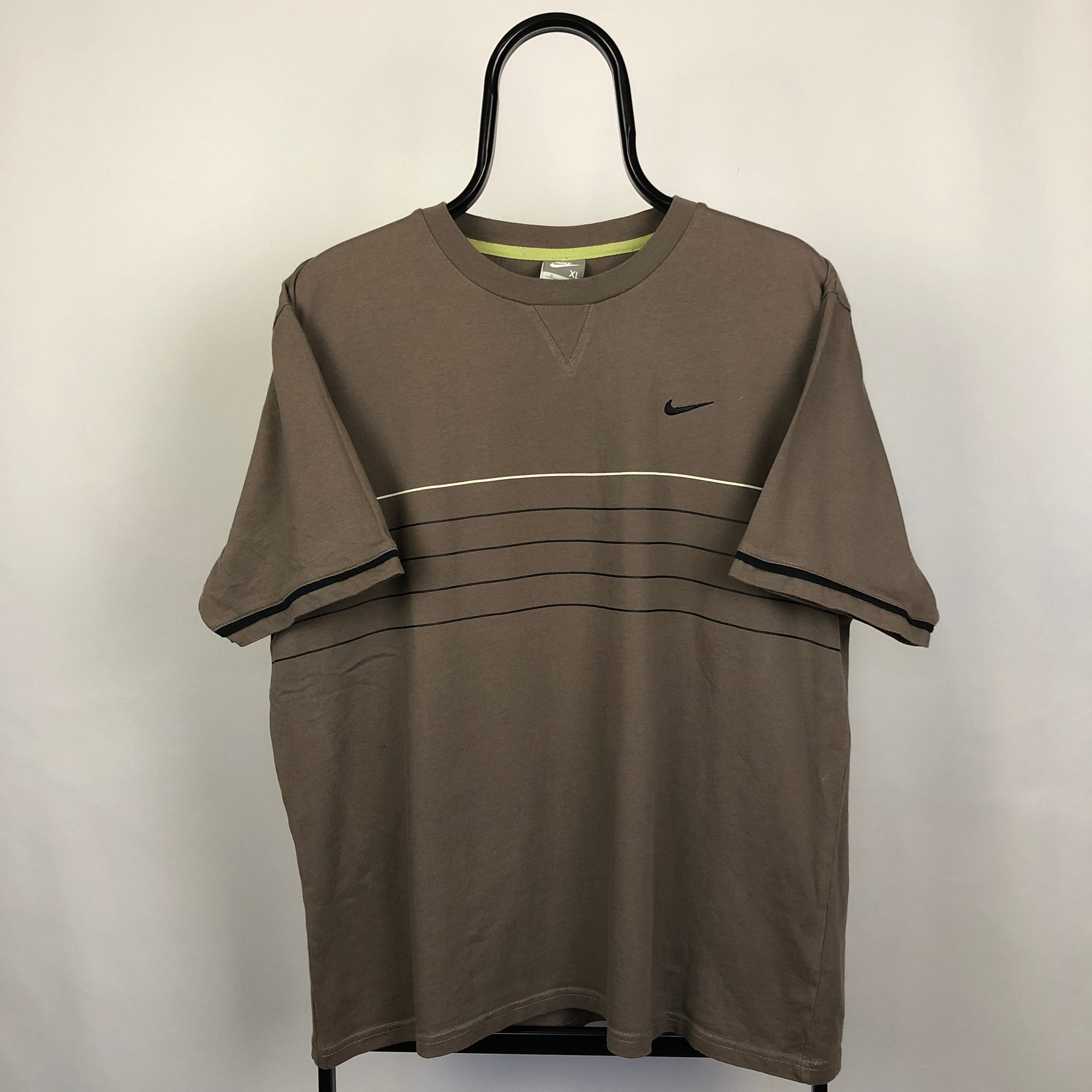 Vintage Nike Tee in Brown - Men's Large/Women's XL