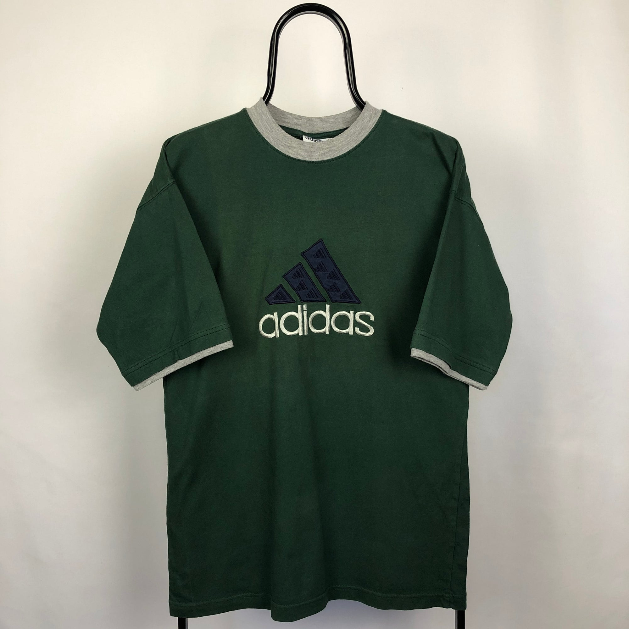 Vintage Adidas Spellout Tee in Green - Men's Large/Women's XL