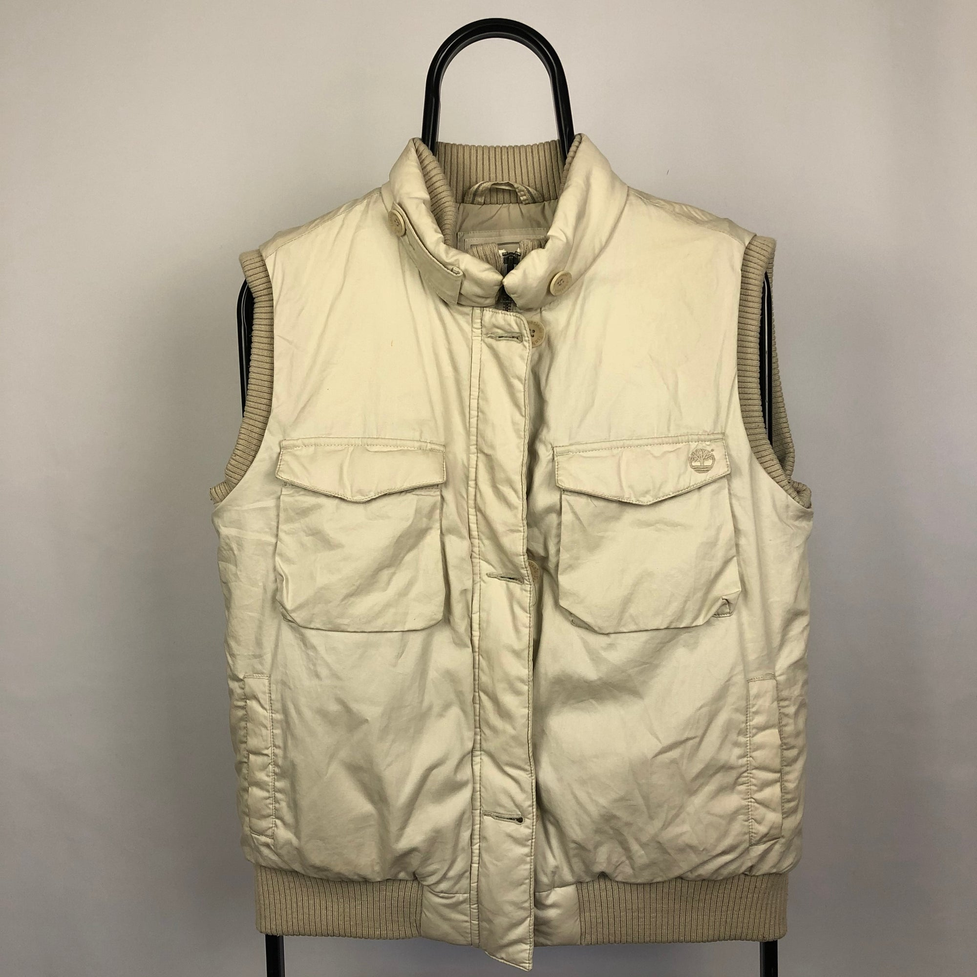 Timberland Beige Gilet - Men's Small/Women's Medium