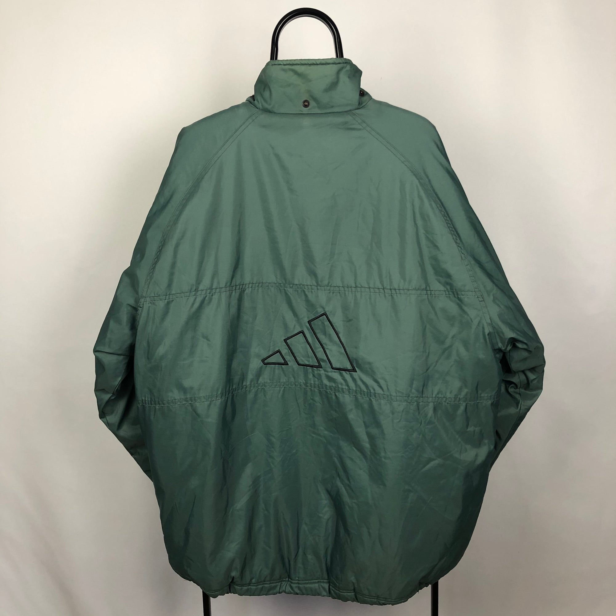 Vintage Adidas Green Puffer Jacket - Men's XL/Women's XXL