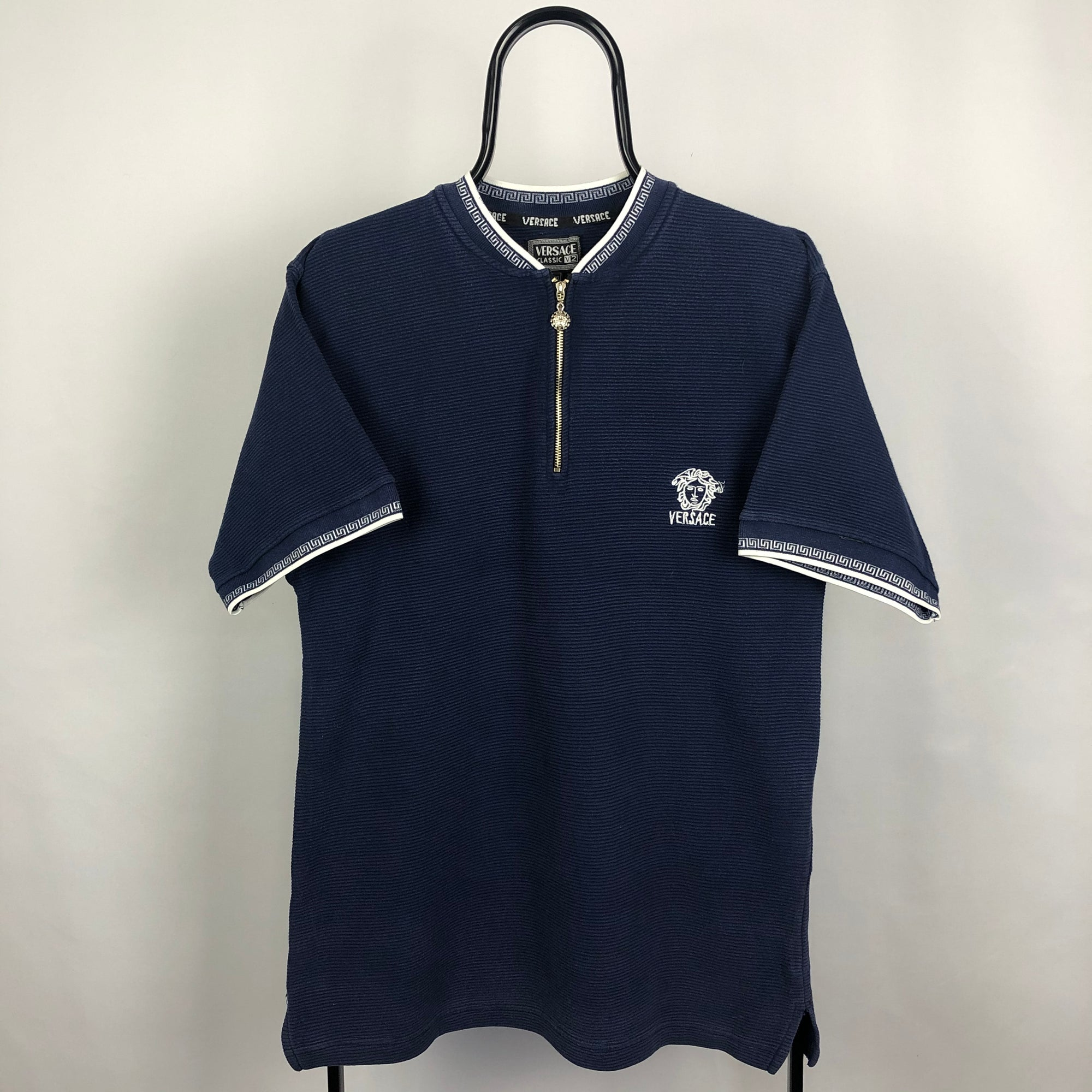 Versace zip Polo Shirt - Men's Medium/Women's XL
