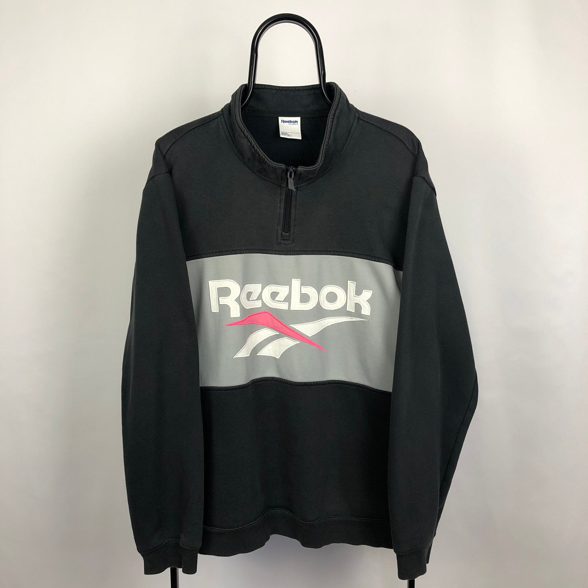 Reebok Spellout 1/4 Zip Sweatshirt - Men's Large/Women's XL