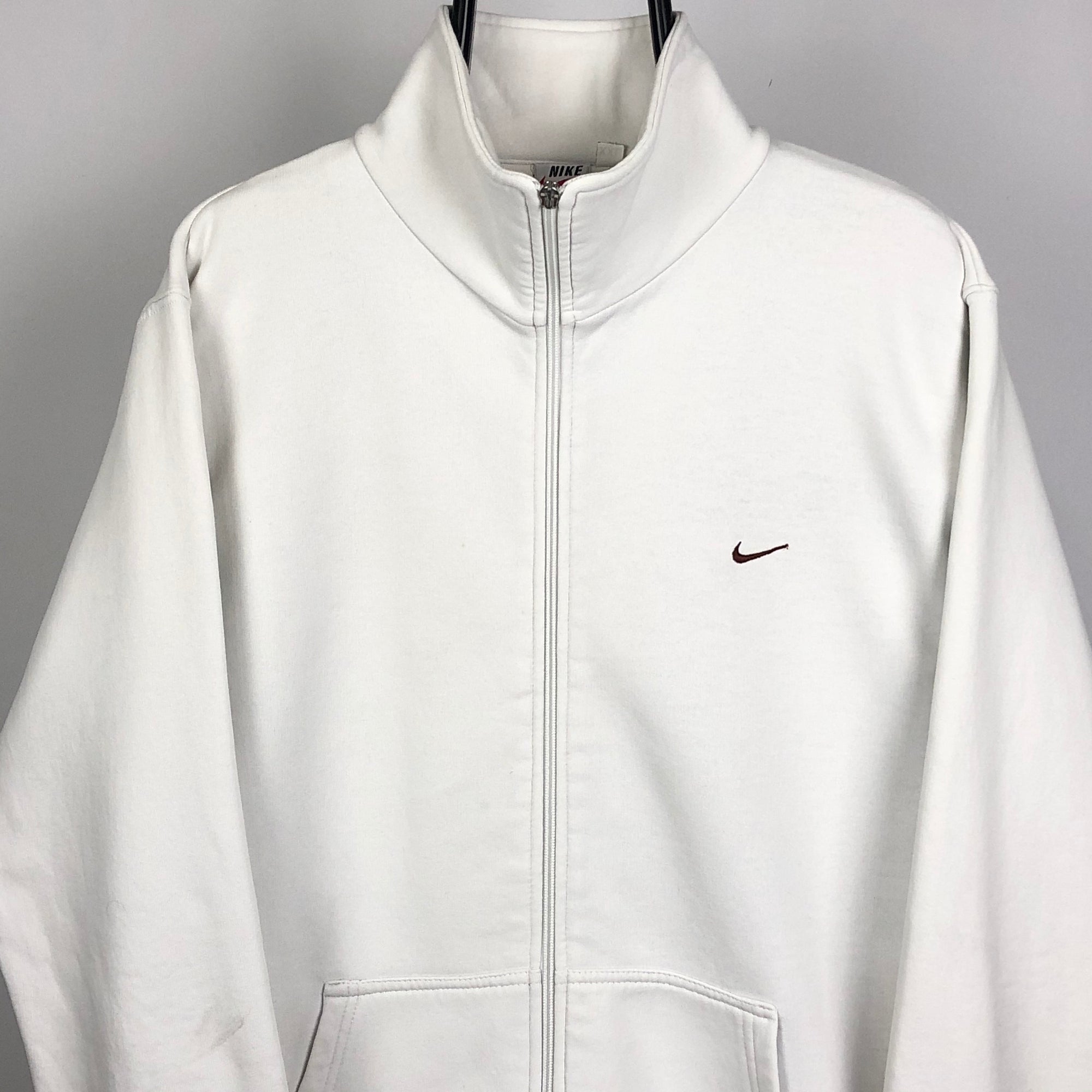Nike Zip Up Sweatshirt in White - Men's Large/Women's XL