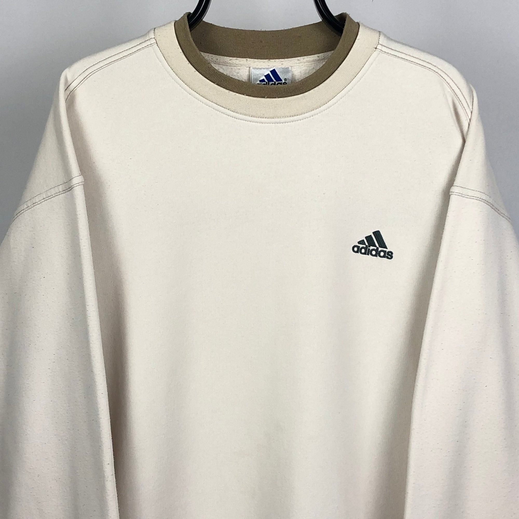 Adidas Sweatshirt in Beige/Sand - Men's XL/Women's XXL