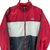 VINTAGE 90S ADIDAS WINDBREAKER IN RED, WHITE & CHARCOAL - MEN'S MEDIUM/WOMEN'S LARGE