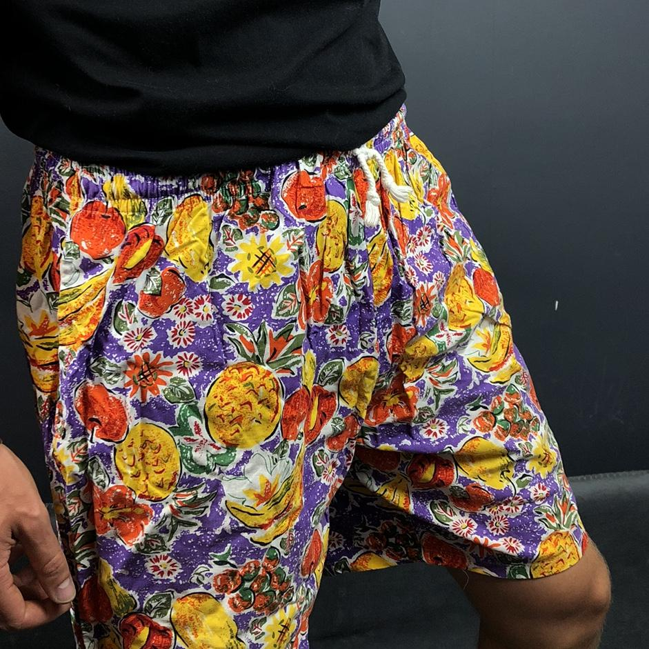 80s/90s Vintage Pineapple Graphic Shorts - Medium - Vintique Clothing