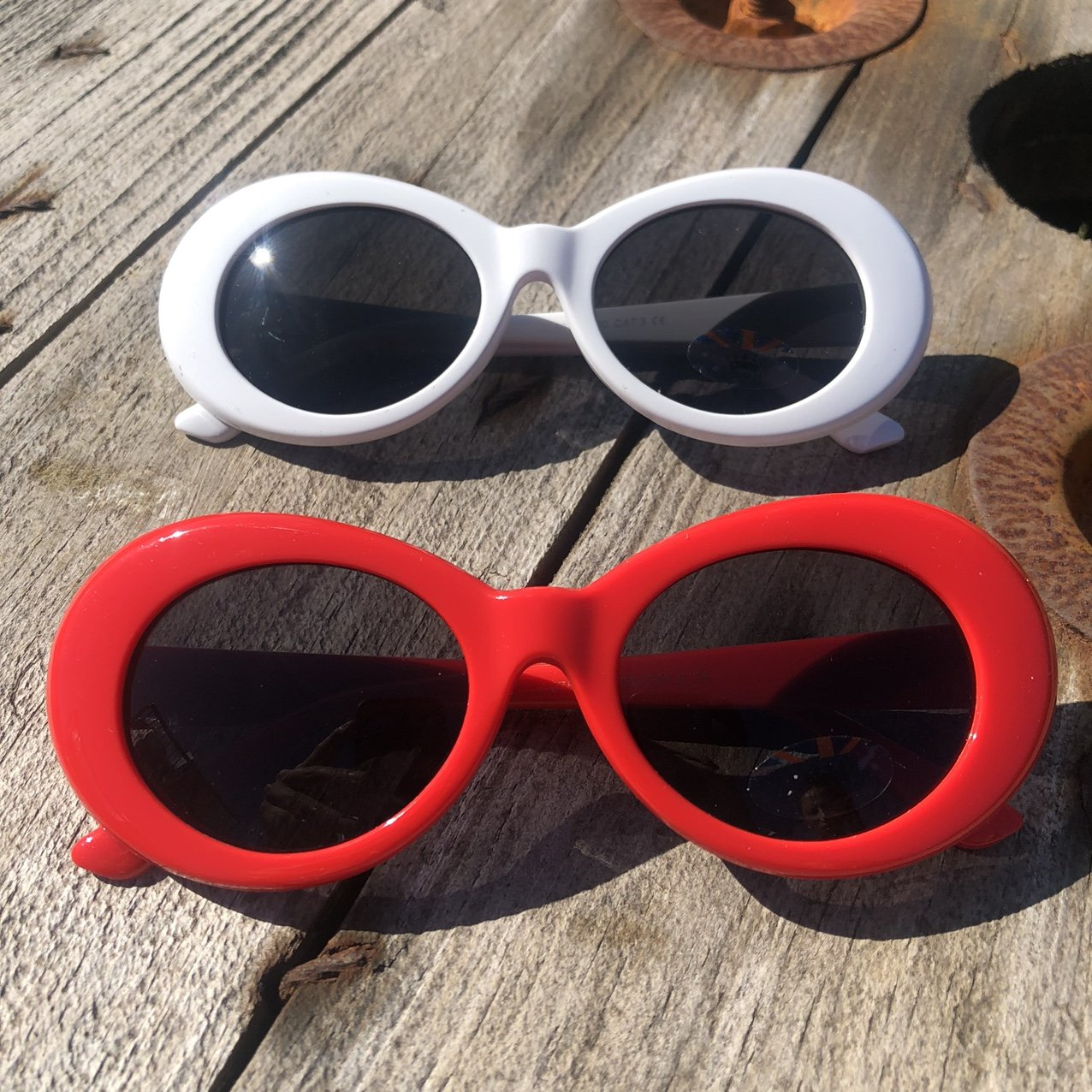 Vintage/Retro Style Oval Sunglasses UV400 - Vintique Clothing