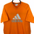 Vintage Adidas Spellout Tee in Orange - Men's Large/Women's XL
