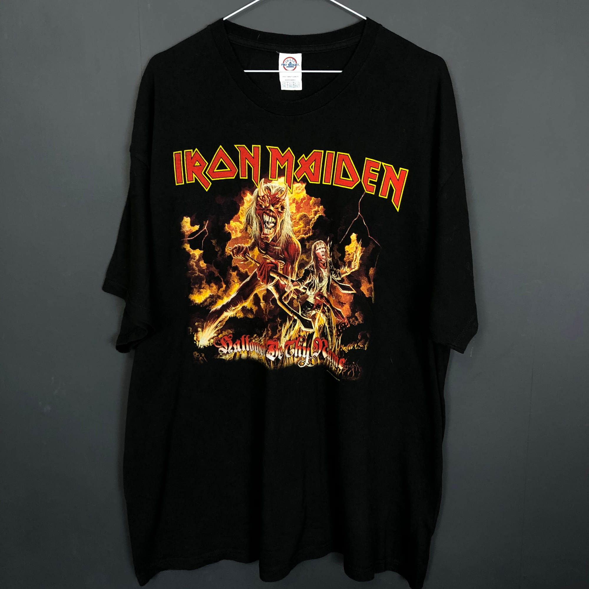 Oversized Vintage Iron Maiden T-Shirt - XXL - Vintique Clothing
