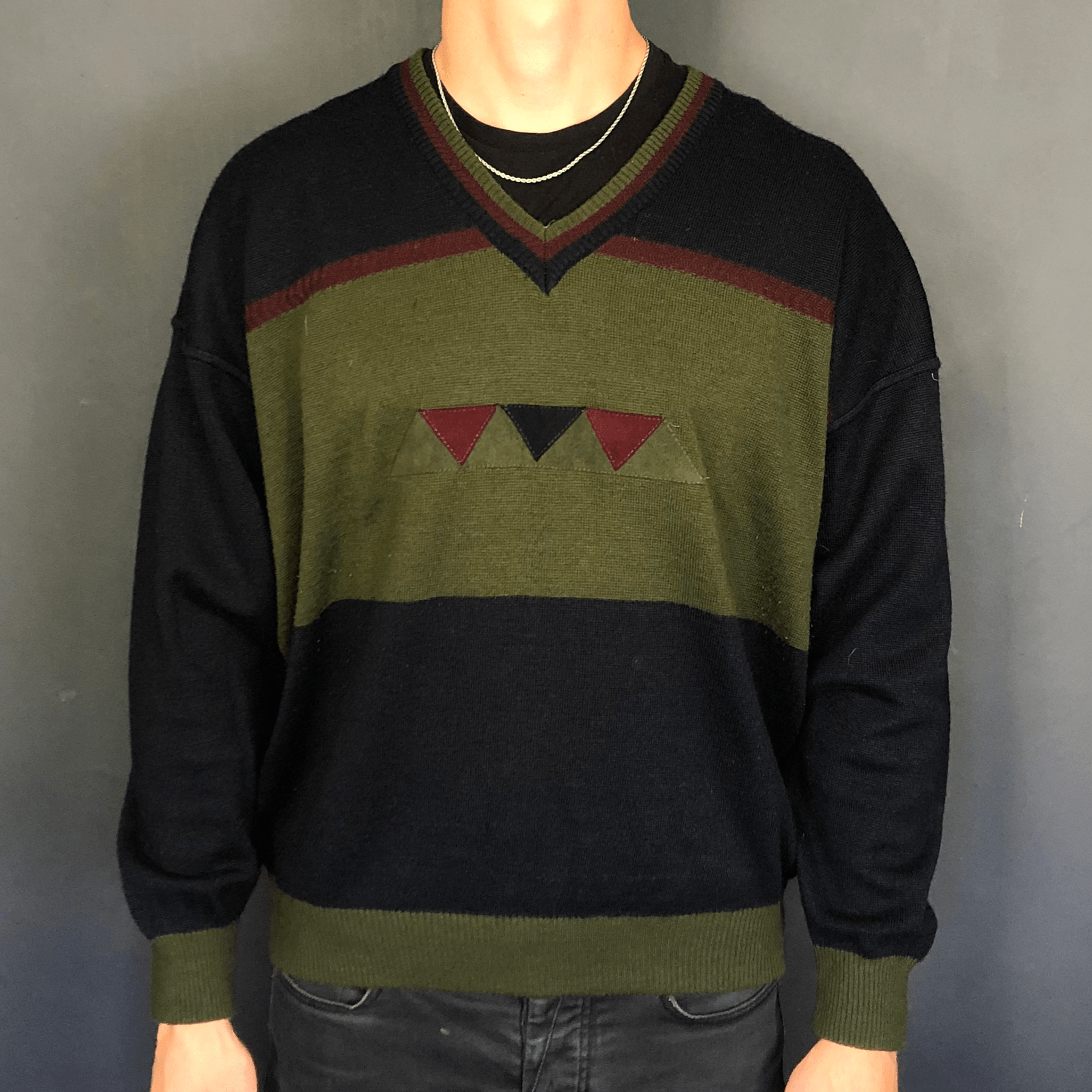 VINTAGE KNITTED JUMPER / SWEATER - Large - Vintique Clothing