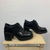 "VINTAGE CHUNKY Velcro SHOES IN BLACK - SIZE UK5/EU38 - 3"" Heel"