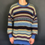 VINTAGE CRAZY PATTERN KNITTED JUMPER / SWEATER - XL - Vintique Clothing