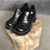 Vintage Chunky Shoes in Shiny Black - Size UK5/EU38 - Vintique Clothing