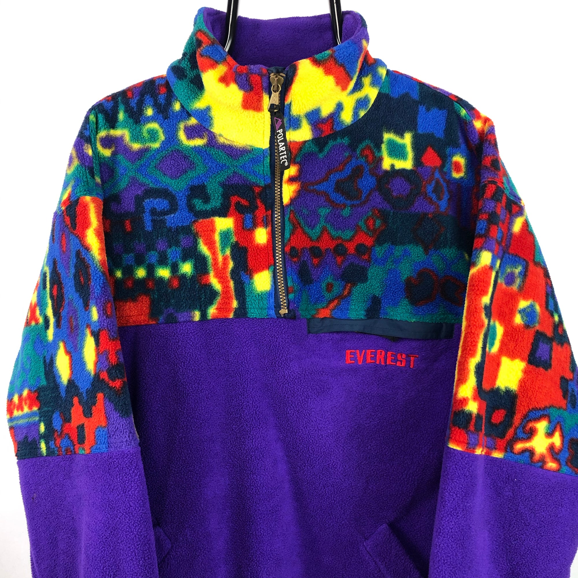 Vintage Crazy Print Polartec Fleece - Men's Medium/Women's Large