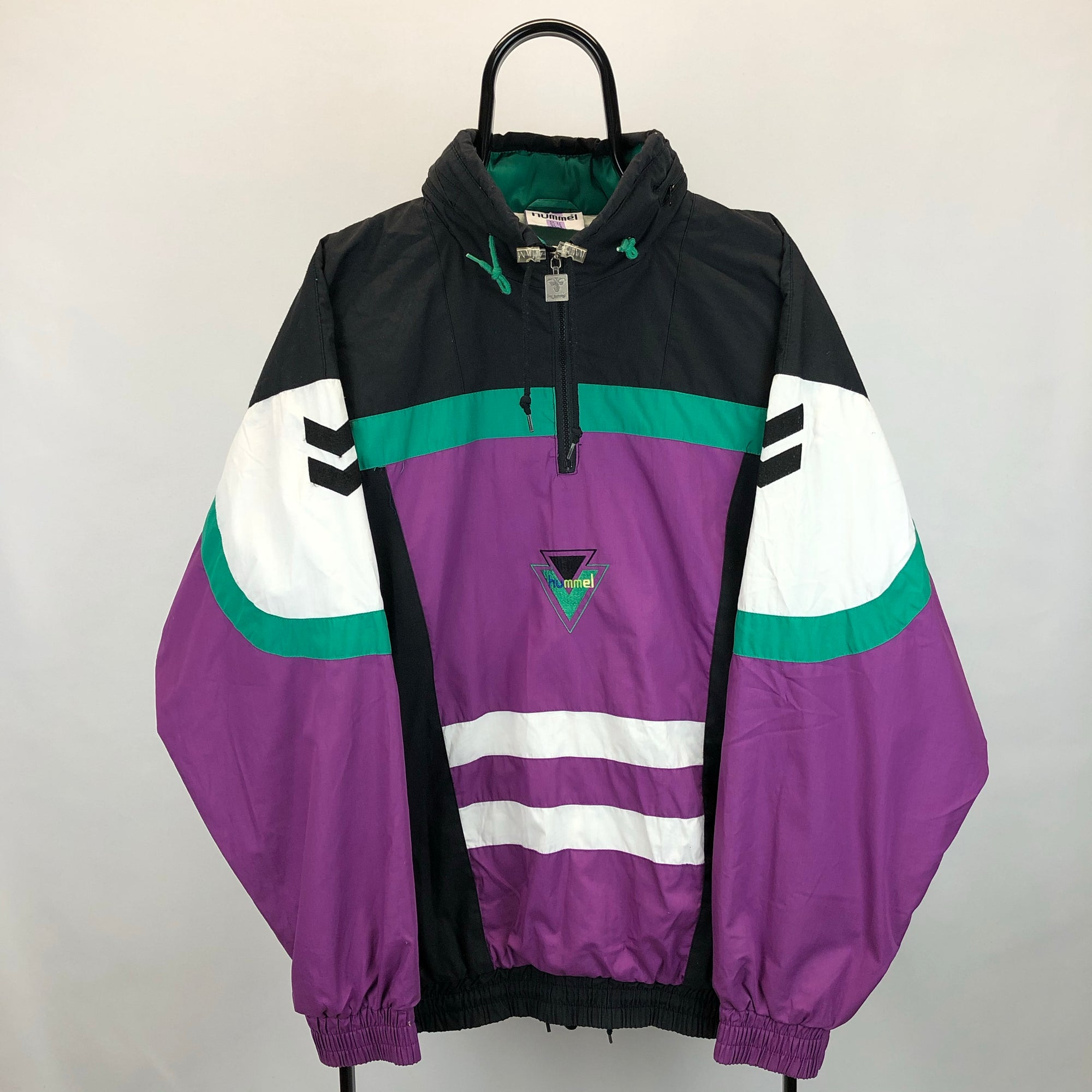 Vintage 90s Hummel 1/4 Zip Track Jacket - Men's Large/Women's XL