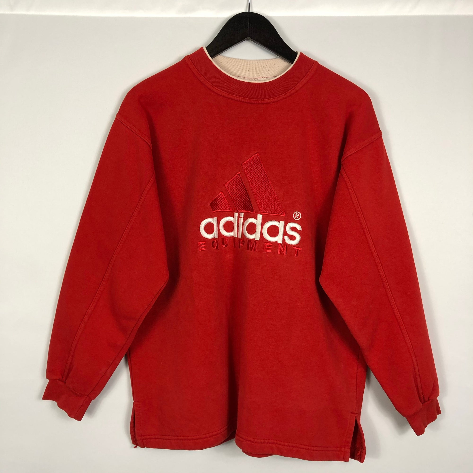 Vintage Adidas Equipment Sweatshirt in Red - Women's Medium/Men's Small