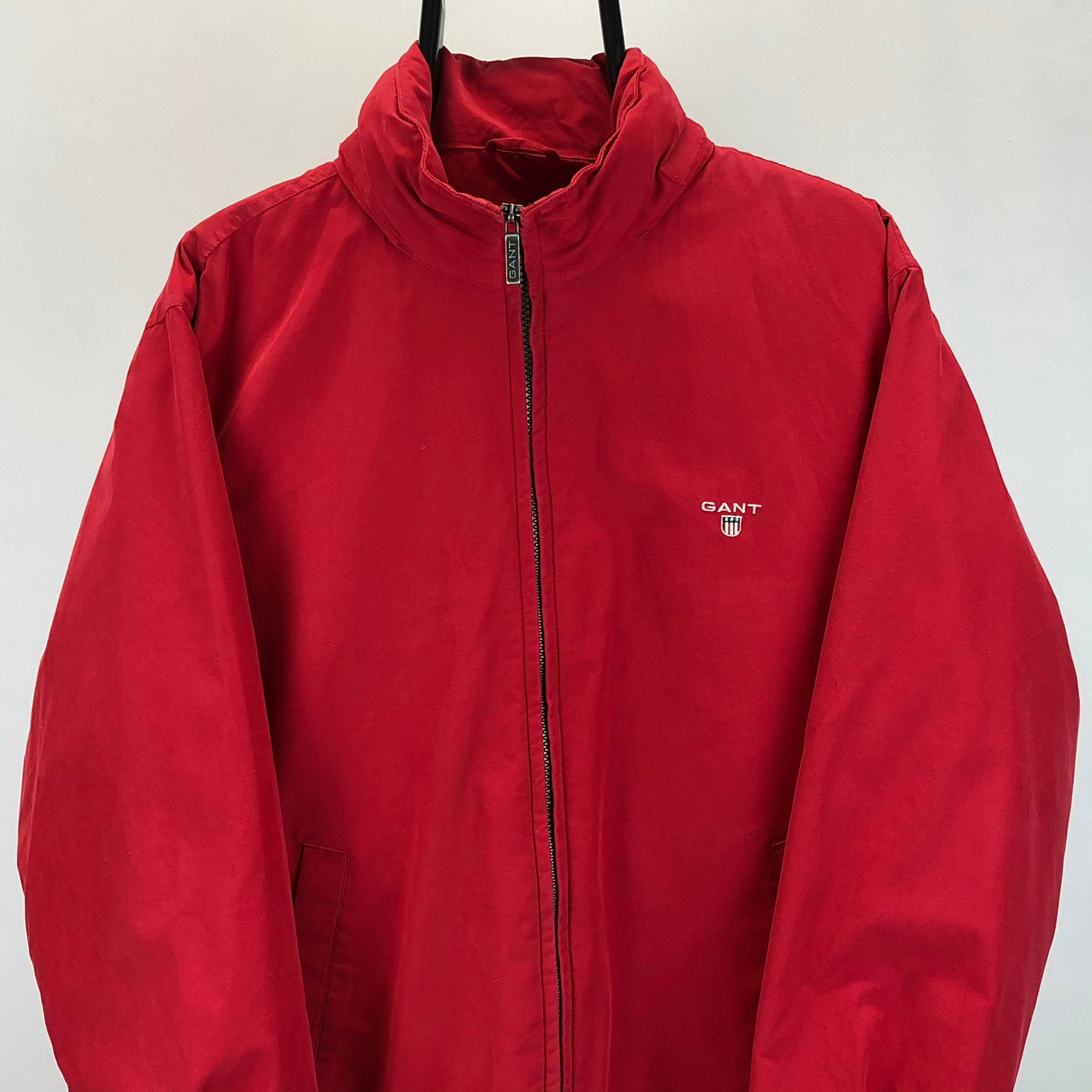 Gant Midlength Jacket With Retractable Hood in Red - Men's Medium/Women's Large
